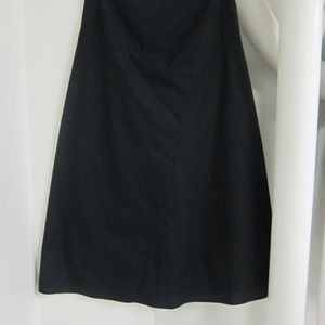 Authentic The Row Black Wide Slit Skirt